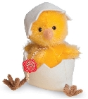 peluche-teddy Peluche de collection poussin jaune 11 cm