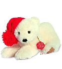 peluche-teddy Ours de collection ours polaire 23 cm