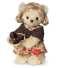 peluche-teddy Ours en peluche de collection Liesl 17 cm