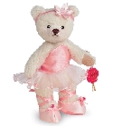 peluche-teddy Ours de collection ballerine rose 13 cm