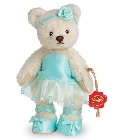 peluche-teddy Ours de collection ballerine turquoise 13 cm