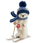 peluche-teddy Ours de collection skieur 15 cm