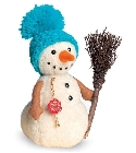 peluche-teddy Peluche de collection bonhomme de neige