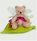 peluche-teddy Ours Teddy de collection Elfe rose 13 cm