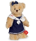 peluche-teddy Ours de collection Maike 22 cm
