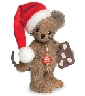 peluche-teddy Peluche de collection souris Père Noël 18 cm