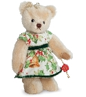 peluche-teddy Ours de collection de noël Hélène 22 cm