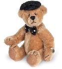 peluche-teddy Ours de collection miniature Théo 12 cm