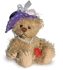 peluche-teddy Ours de collection mohair Beatrice 14 cm