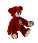 peluche-teddy Mini teddy rouge 6 cm