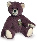peluche-teddy Ours miniature à collectionner aubergine 6 cm