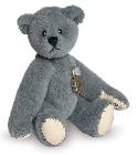peluche-teddy Ours miniature à collectionner gris 5.5 cm