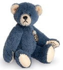 peluche-teddy Ours miniature à collectionner bleu 6 cm