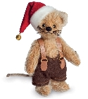 peluche-teddy Peluche de collection souris de Noël 10 cm