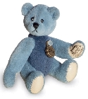 peluche-teddy Ours miniature à collectionner bleu 5.5 cm