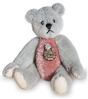 peluche-teddy Ours miniature à collectionner gris rose 5.5