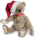 peluche-teddy Ours de collection de Noël miniature 10 cm