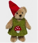 peluche-teddy Ours Teddy de collection gnome fille 10 cm
