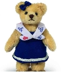 peluche-teddy Ours Teddy de collection marine 10 cm