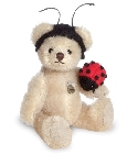 peluche-teddy Ours de collection coccinelle 10 cm
