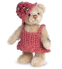 peluche-teddy Ours de collection Magdalena 10 cm