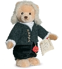 peluche-teddy Ours de collection Bach musical 30 cm