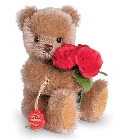 peluche-teddy Ours de collection avec roses 15 cm