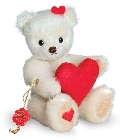 peluche-teddy Ours de collection avec coeur 15 cm