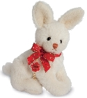 peluche-teddy Peluche de collection lapin crème 23 cm