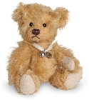 peluche-teddy Ours de collection miniature doré 10 cm