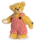 peluche-teddy Ours de collection miniature Tobias 9 cm