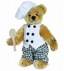 peluche-teddy Ours teddy de collection Chef 10 cm