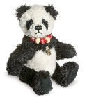 peluche-teddy Ours teddy de collection panda 10 cm