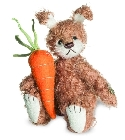 peluche-teddy Ours teddy de collection lapin Moppel 11 cm