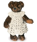 peluche-teddy Ours de collection mohair Aminata 13 cm
