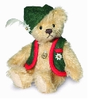 peluche-teddy Ours de collection mohair Alberth 12 cm