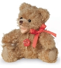 peluche-teddy Ours Teddy de collection caramel 18 cm