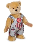 peluche-teddy Ours de collection en salopette 28 cm