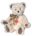 peluche-teddy Ours de collection nostalgie blanc 45 cm