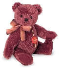 peluche-teddy Ours de collection bourgogne 27 cm