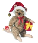 peluche-teddy Peluche de collection souris de noel