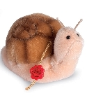 peluche-teddy Peluche de collection escargot 8 cm