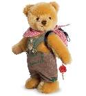 peluche-teddy Ours de collection costume traditionnel 22 cm