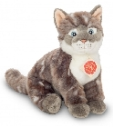 peluche-teddy Peluche chat assis gris Hermann 24 cm