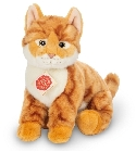 peluche-teddy Peluche chat roux assis Hermann 24 cm